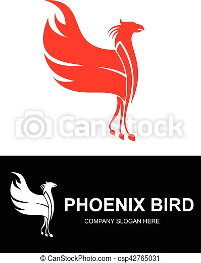 Red phoenix bird logo can use for nay business vectors search red phoenix bird logo vector voltagebd Choice Image