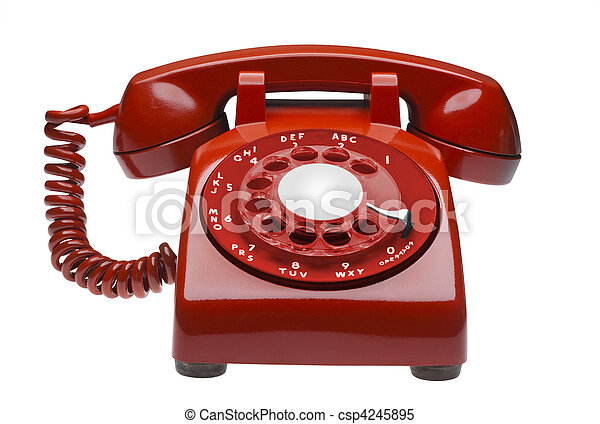 Red phone, isolated - csp4245895