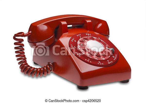 Red phone, isolated - csp4206520