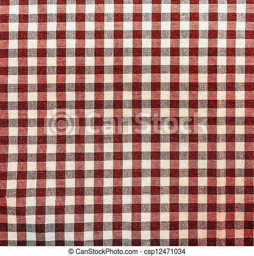 Red Picnic Tablecloth Texture   Csp12471034