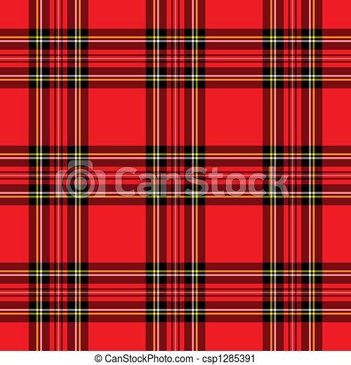 Red Plaid Pattern - csp1285391