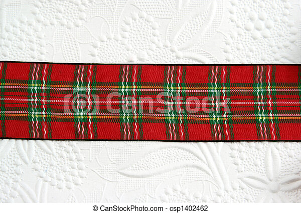 red plaid ribbon csp1402462