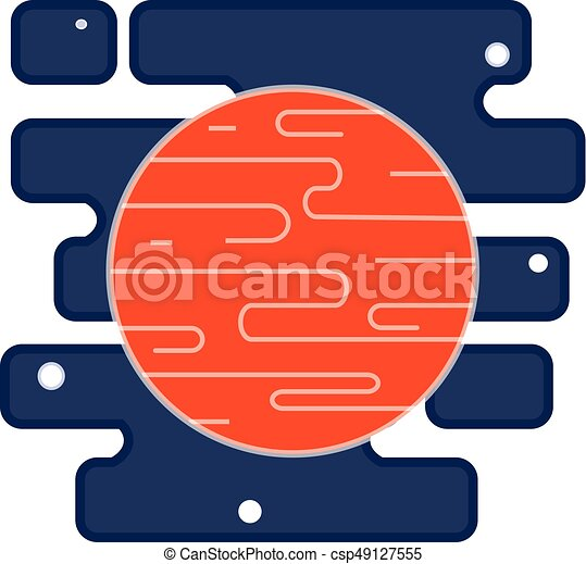 red planet mars icon in the space with stars vector flat clipart rh canstockphoto com clipart of mary clipart of marketing