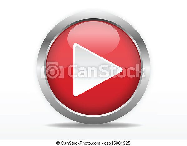 Red play button - csp15904325