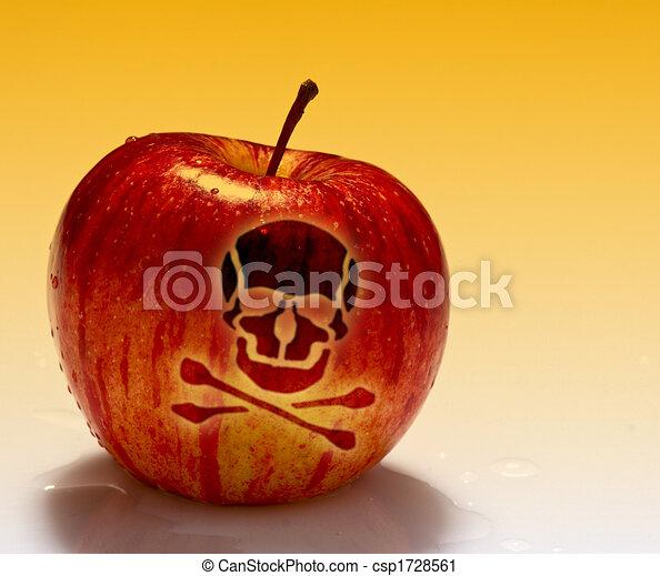 red poison apple background - csp1728561