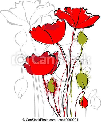 Red poppy flowers red poppy flowers csp10099291 mightylinksfo