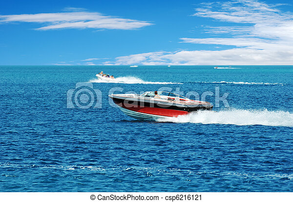 red power boat - csp6216121