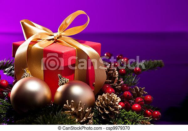 Red present box - csp9979370