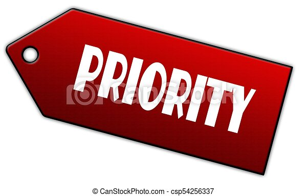 Red PRIORITY label