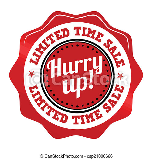 Red promotional sticker csp21000666