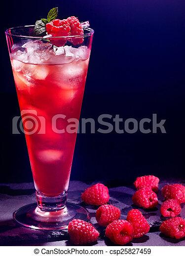 red raspberry cocktail on dark background 7 red raspberry drink