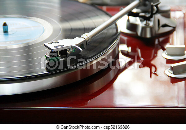 Red Record Player - csp52163826
