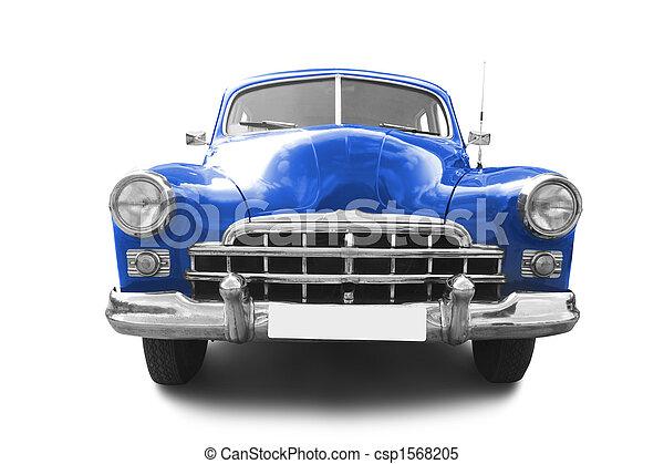 Red retro automobile - csp1568205