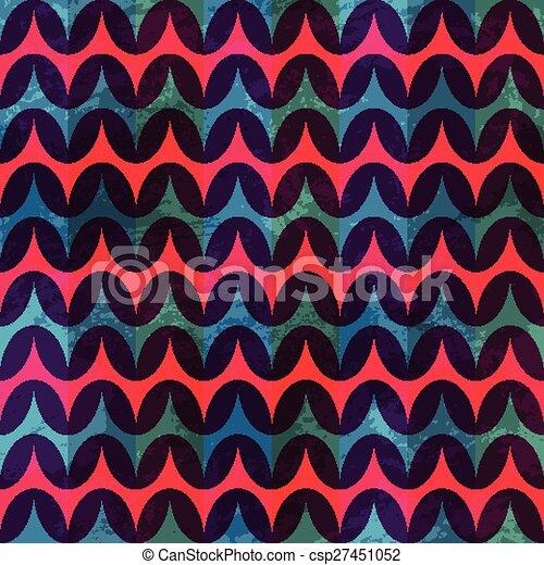 red retro seamless pattern - csp27451052