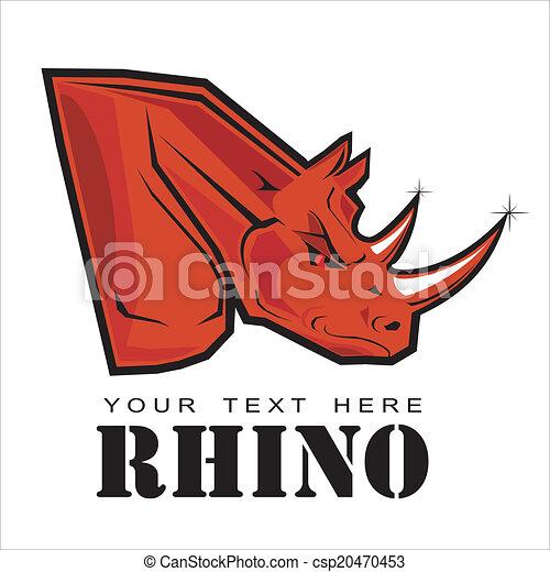 Red Rhino. Elegant Rhinoceros - csp20470453