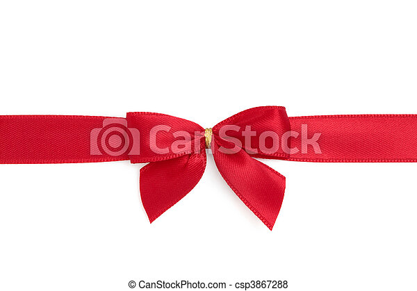 Red Ribbon and Bow - csp3867288