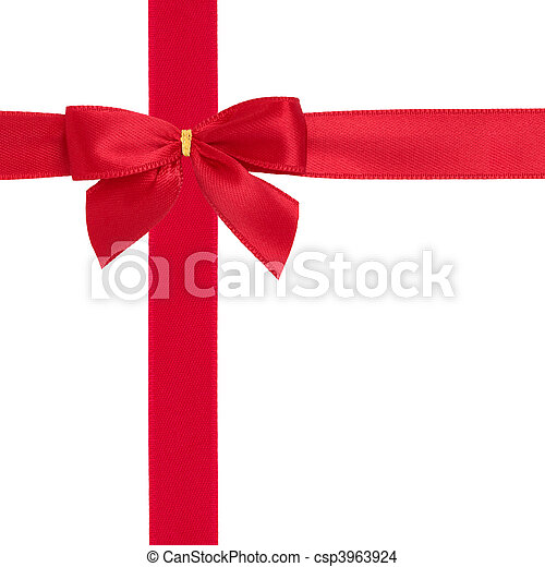 Red Ribbon and Bow - csp3963924