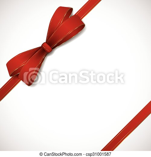 Red ribbon background - csp31001587