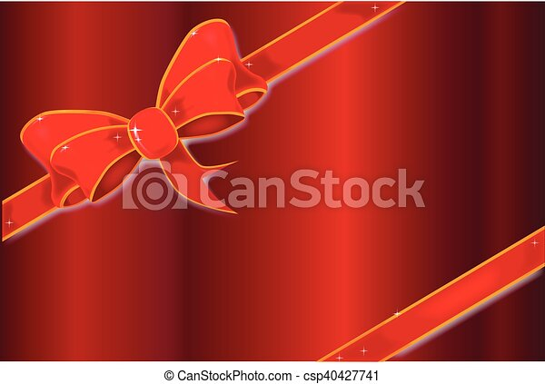 Red Ribbon Background - csp40427741