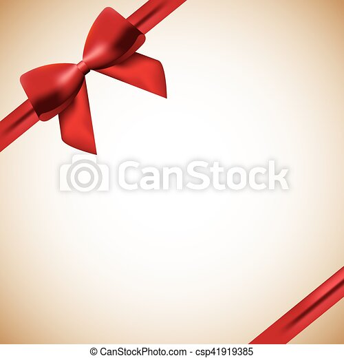 red ribbon background - csp41919385