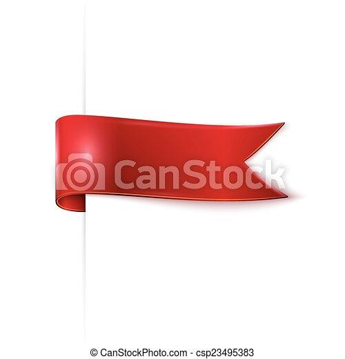 red ribbon - csp23495383
