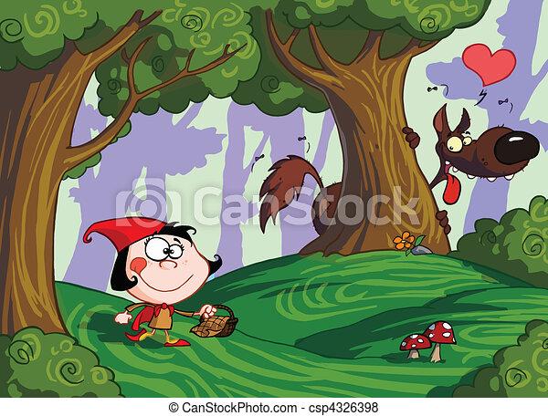 Red Riding Hood  - csp4326398