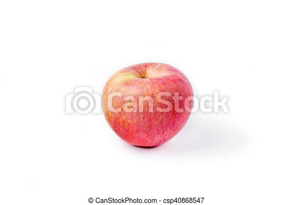 Red ripe apple on a white background - csp40868547