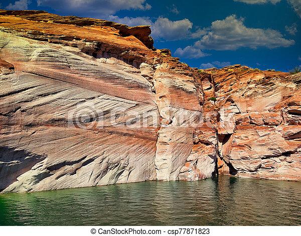 red rocks wall lake powel canyon arizona usa - csp77871823