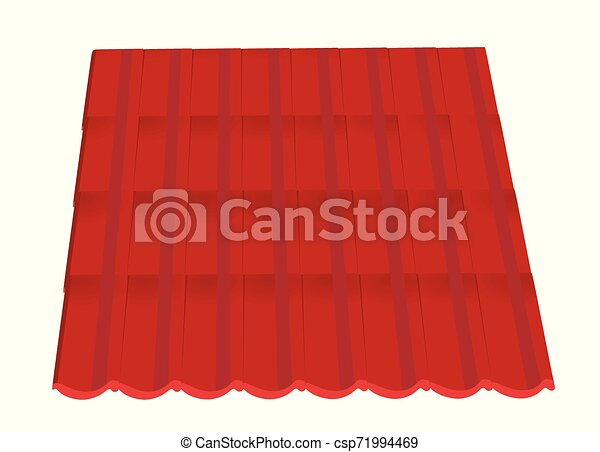 Red roof tiles - csp71994469