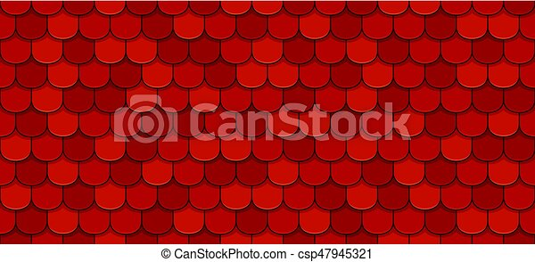 Red roof tiles - csp47945321