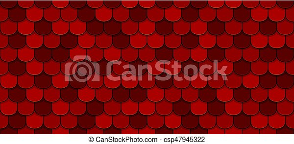 Red roof tiles - csp47945322
