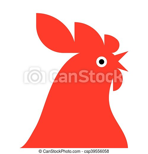 red rooster Mascot - csp39556058
