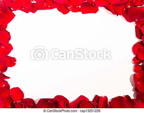 Red rose frame. A high resolution image of a red rose petal frame.