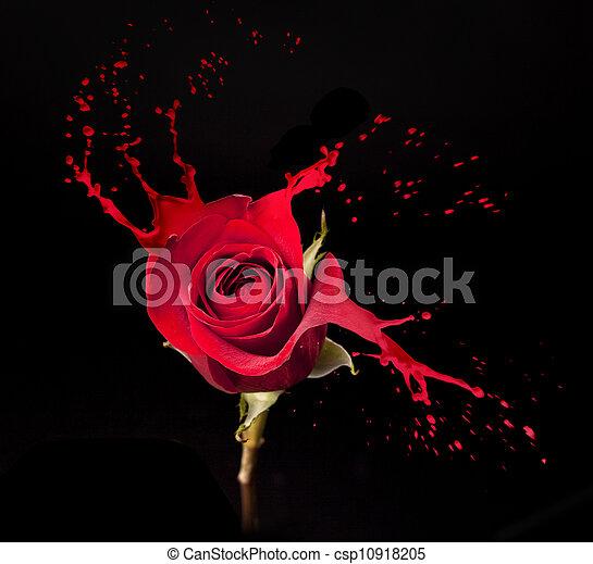 red rose splashes - csp10918205