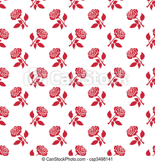 Red roses background - csp3498141