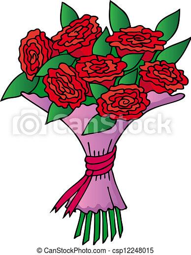 red roses bouquet vector illustration. Black Bedroom Furniture Sets. Home Design Ideas