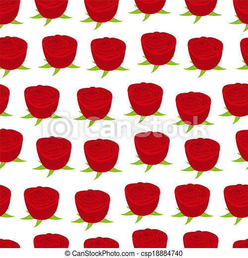 Seamless Wallpaper Pattern With Of Red Roses Eps Vector