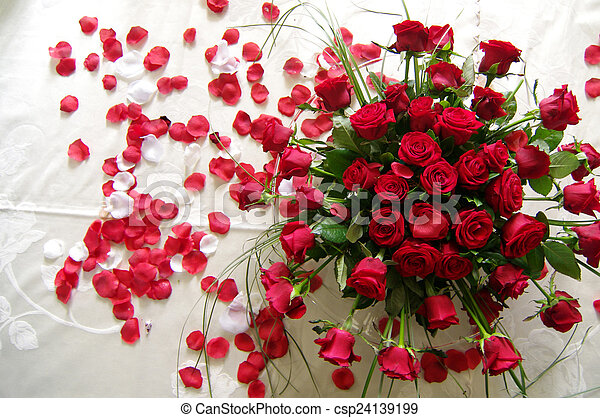 Red Roses For Your Love A Bouquet Of Red Roses And A Sea Of Red