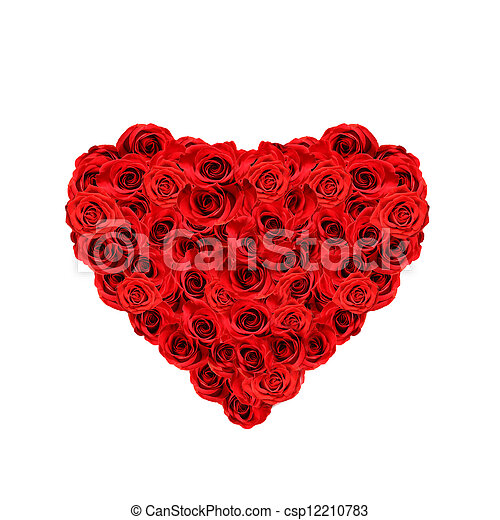 red roses heart - csp12210783