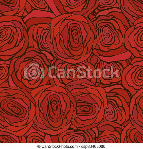 Red Roses Seamless Pattern For Valenine S Day Romantic Wallpaper