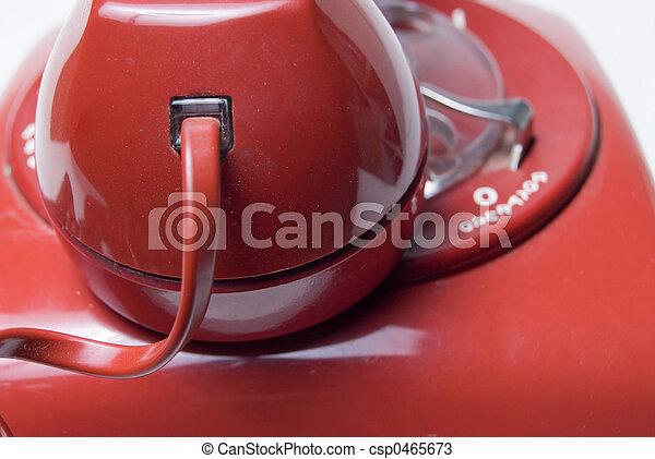 Red rotary telephone - csp0465673