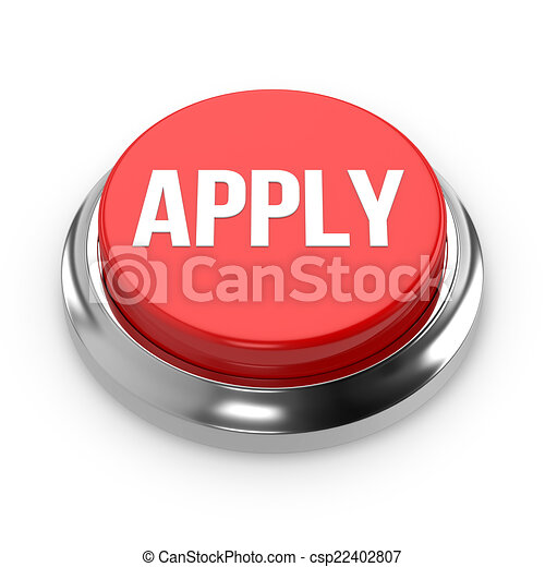 Red round apply button - csp22402807