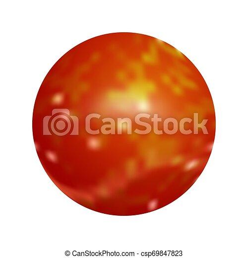 Red round button. Vector illustration. - csp69847823