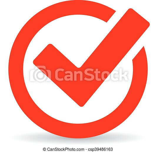 red round checkbox icon isolated on white background clip art vector rh canstockphoto co uk Check Box Graphic Blank-Check Clip Art Box