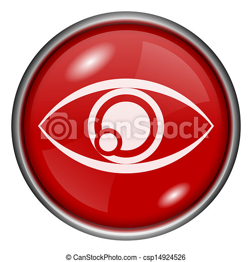 Red round glossy icon - csp14924526