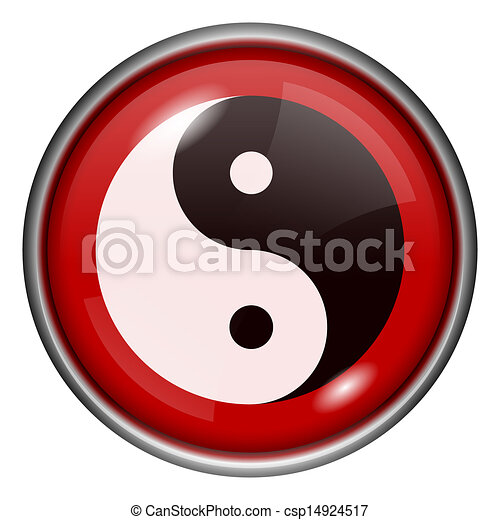 Red round glossy icon - csp14924517