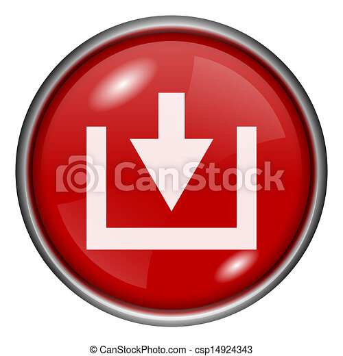 Red round glossy icon - csp14924343