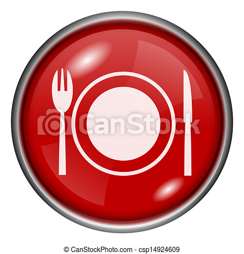 Red round glossy icon - csp14924609