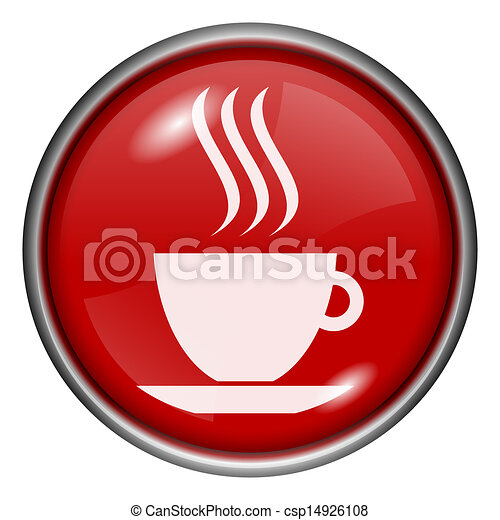 Red round glossy icon - csp14926108