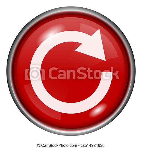 Red round glossy icon - csp14924638